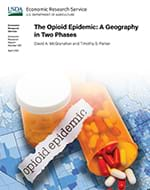 This is the cover image of The Opioid Epidemic: A Geography in Two Phases report.