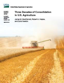USDA ERS - Three Decades of Consolidation in U S  Agriculture