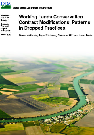 Thumbnail image of the cover of this report showing an aerial view of farmland