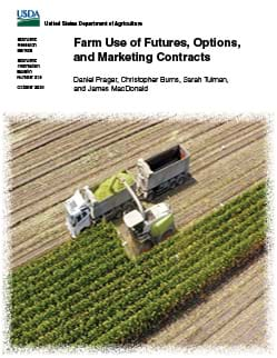 This is the cover image for the Farm Use of Futures, Options, and Marketing Contracts report.
